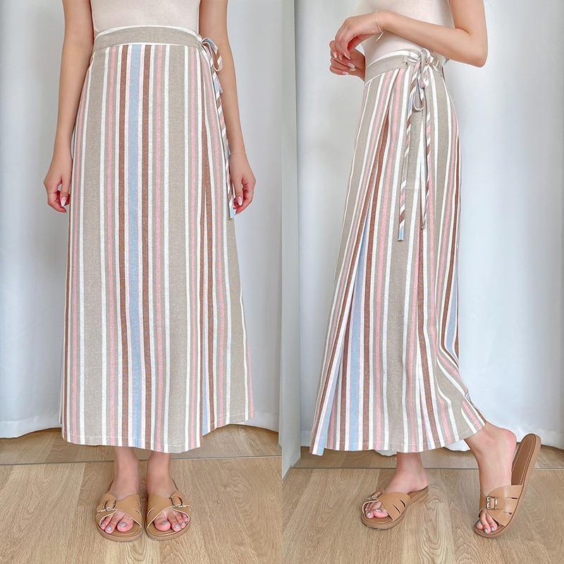 I Meet You Twice Linen Skirt