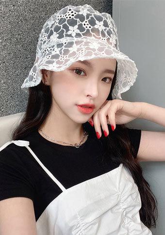 フラワーシースルー hat
