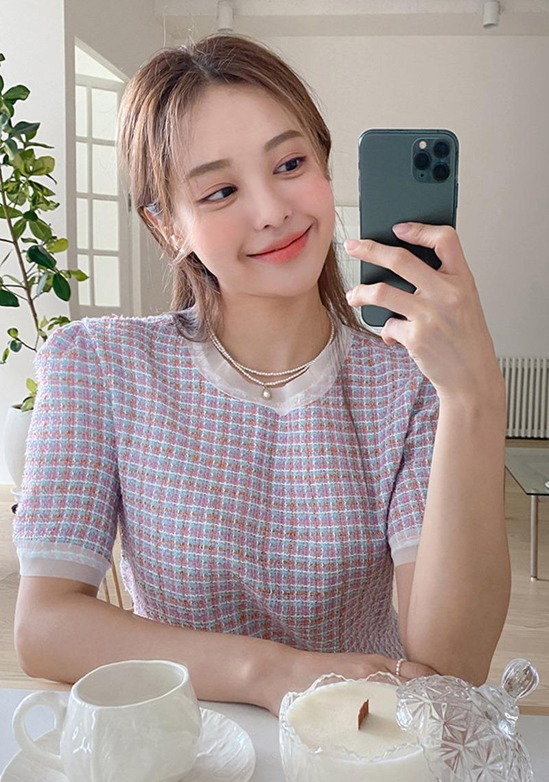 ソニーツイード Blouse_H65854 - 韓国通販 chuu