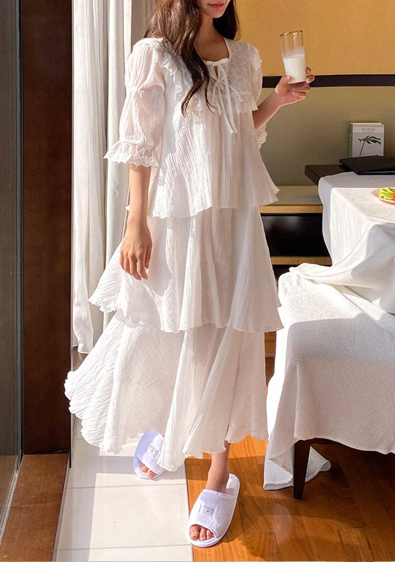 Sweet Evening Frilled Pajamas_H64737