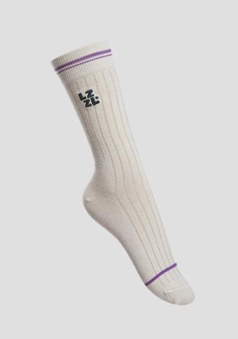 [LZSD]Embroidered socks (ivory)