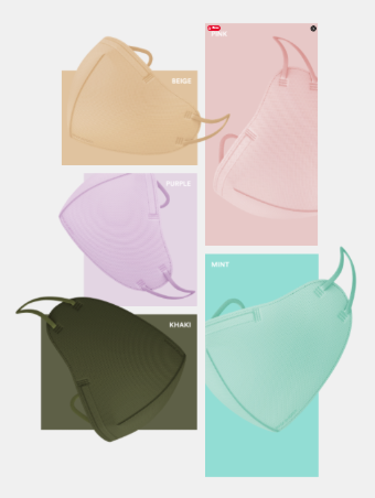 [ETIQA] Airway Round Basic Mask A Color Mask 10EA