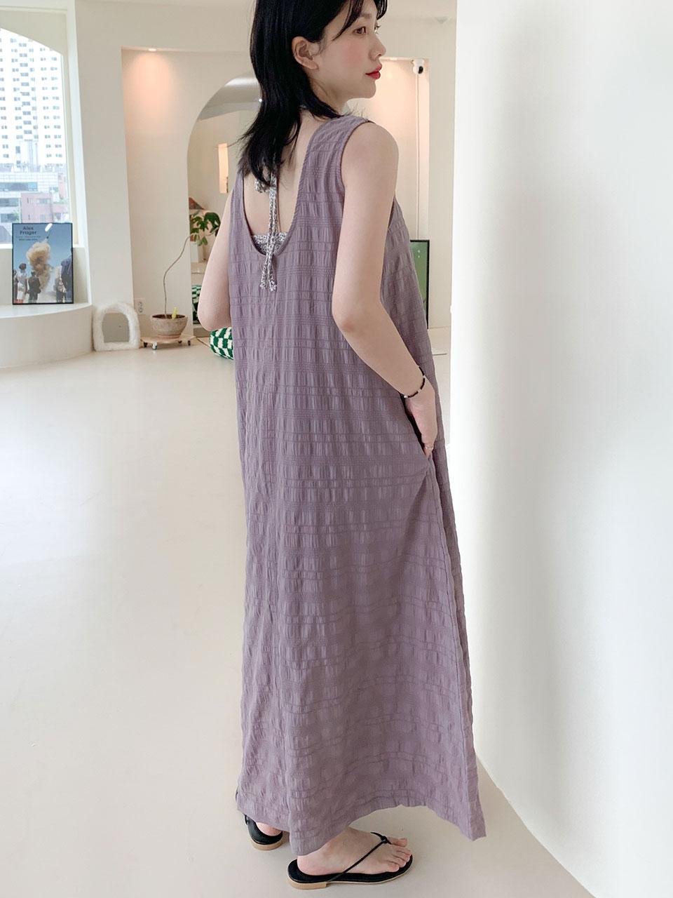 back u-neck maxi dress(2color)