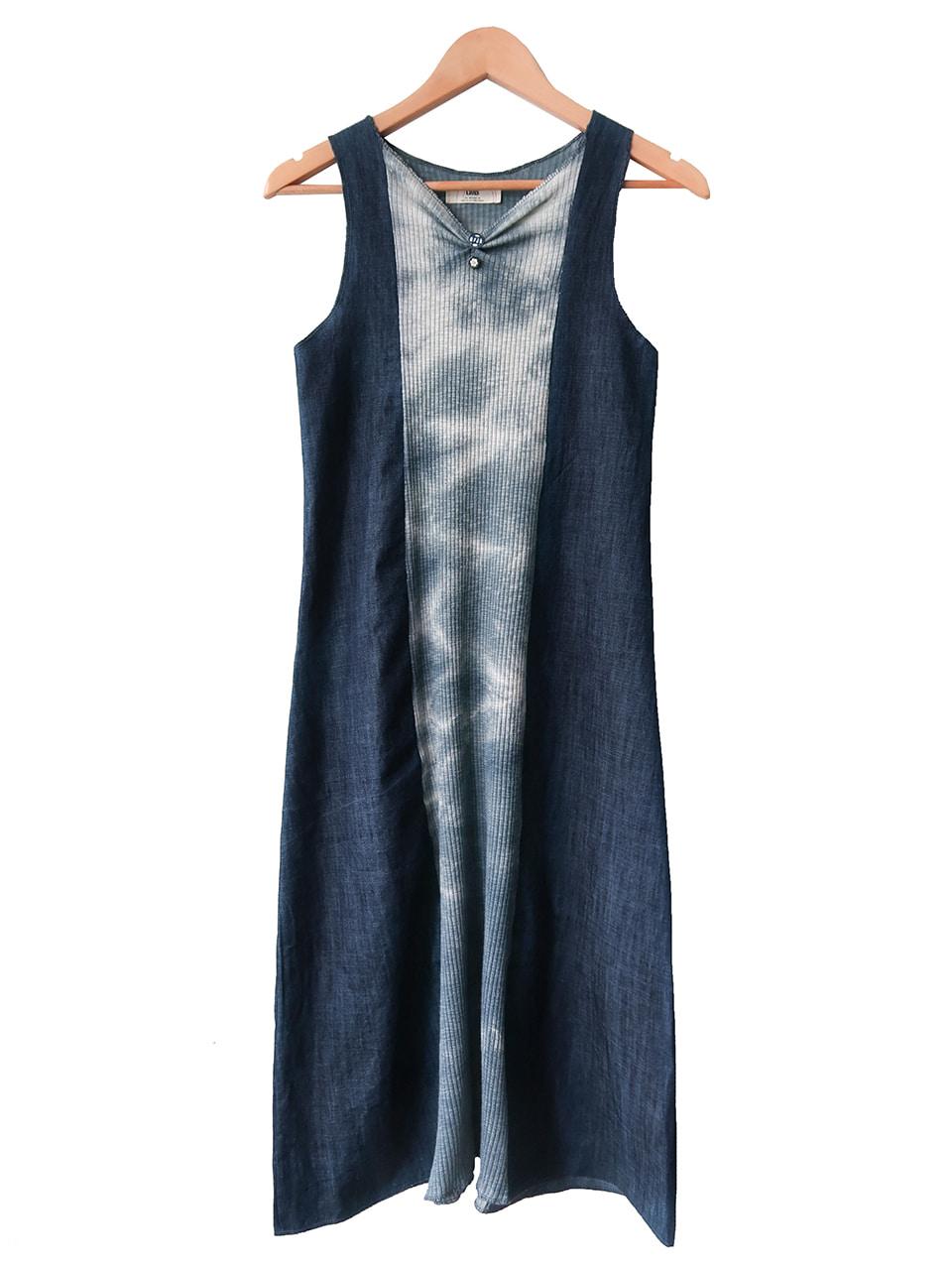 ciols made)denim tie-dye patchwork dress/ 2-3일 소요