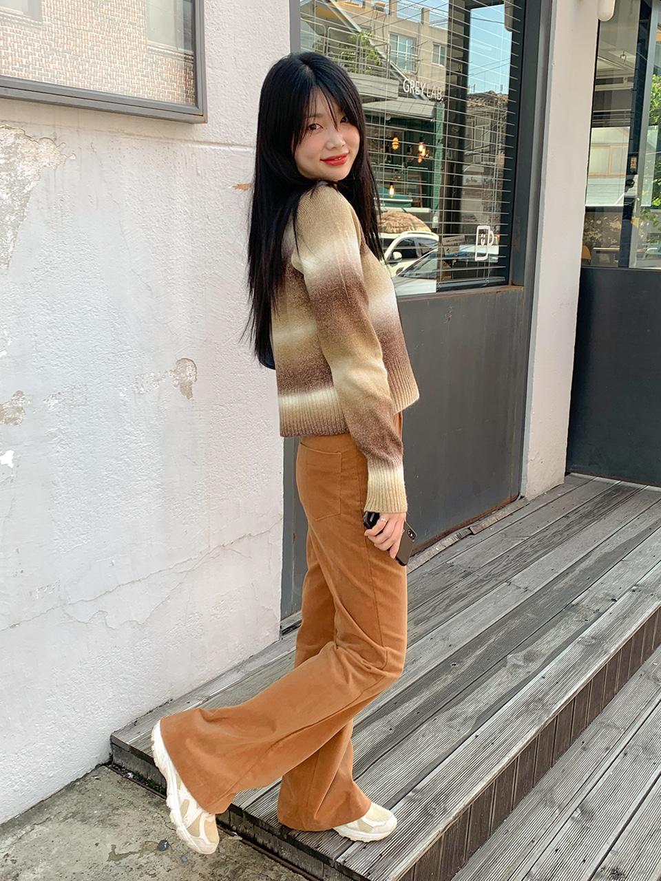 velvet boots cut pants(3color)