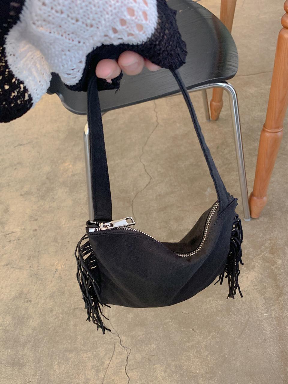 fringe mini tote bag(2color)