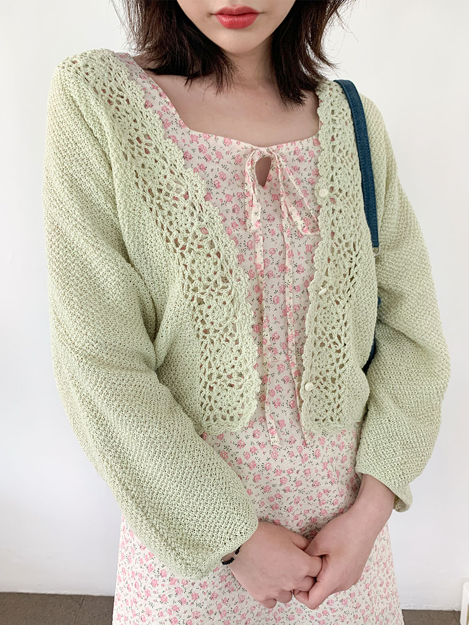 rose button ray fit cardigan(3color)