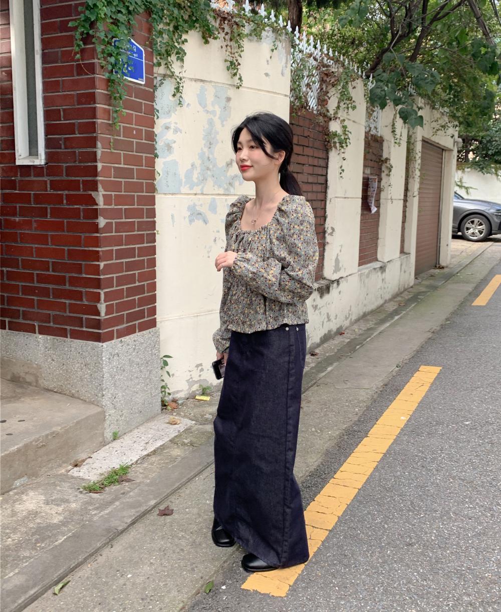 치마 모델 착용 이미지-S17L16