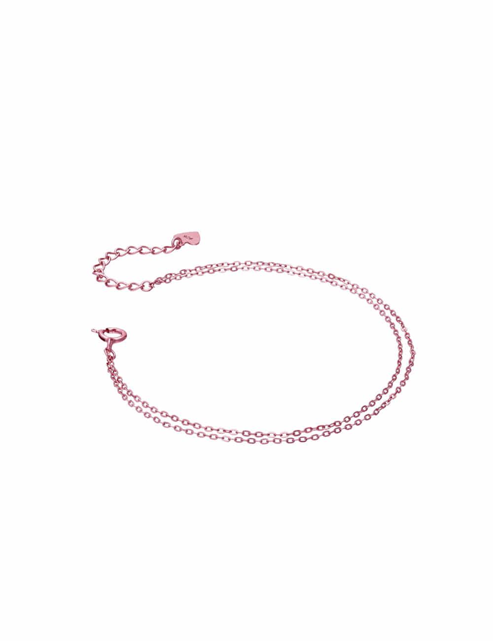 925 Silver Color Coated Layered Bracelet _ 블랙 핑크 브라운 레이어드팔찌 라비쉬에
