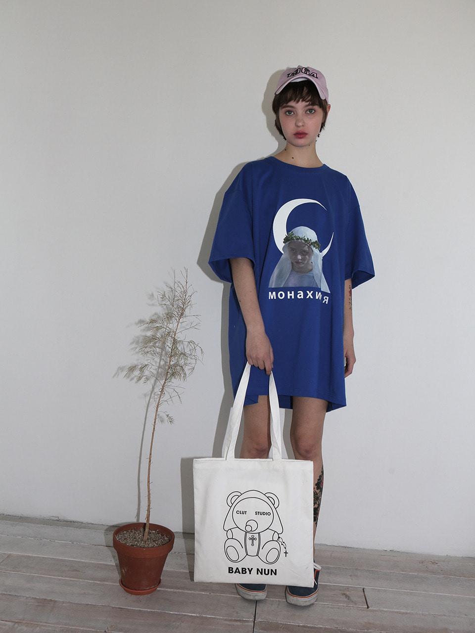 [10% SALE] 1 1 baby nun eco bag - WHITE