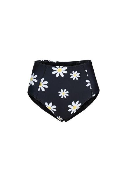 Kelly High Waist Bottom - Black / Daisy