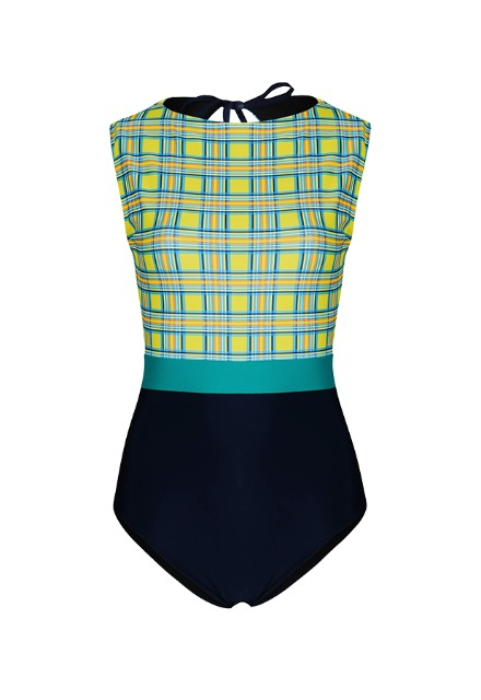 20 Fiona H Suit - Yellow Check / Navy