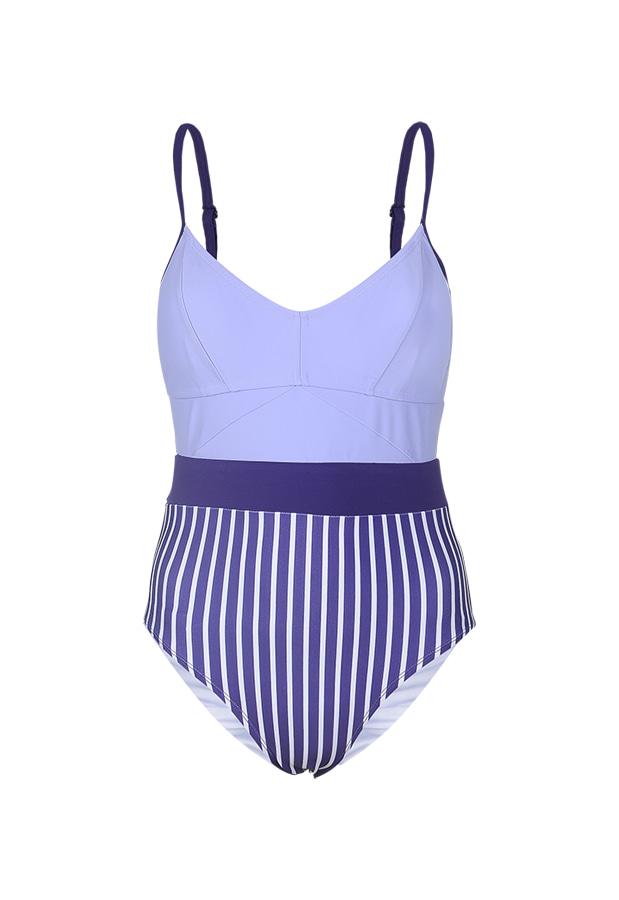 Jennie One Piece - Violet / Purple Stripe