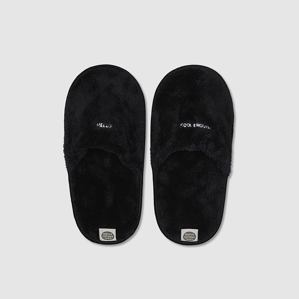 THE TOWEL SLIPPERS [BLACK]