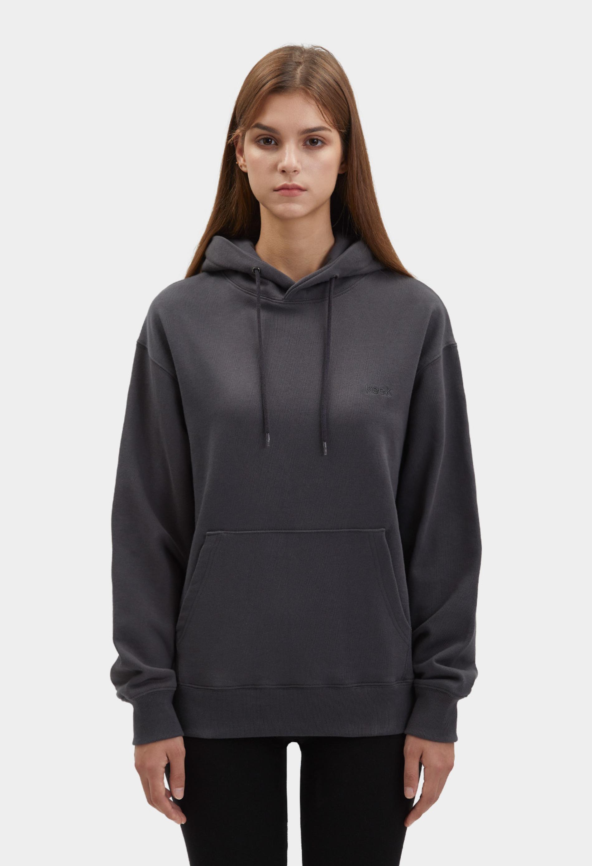 keek [Unisex] keek Hoodie - Charcoal 스트릿패션 유니섹스브랜드 커플시밀러룩 남자쇼핑몰 여성의류쇼핑몰 후드티 힙색