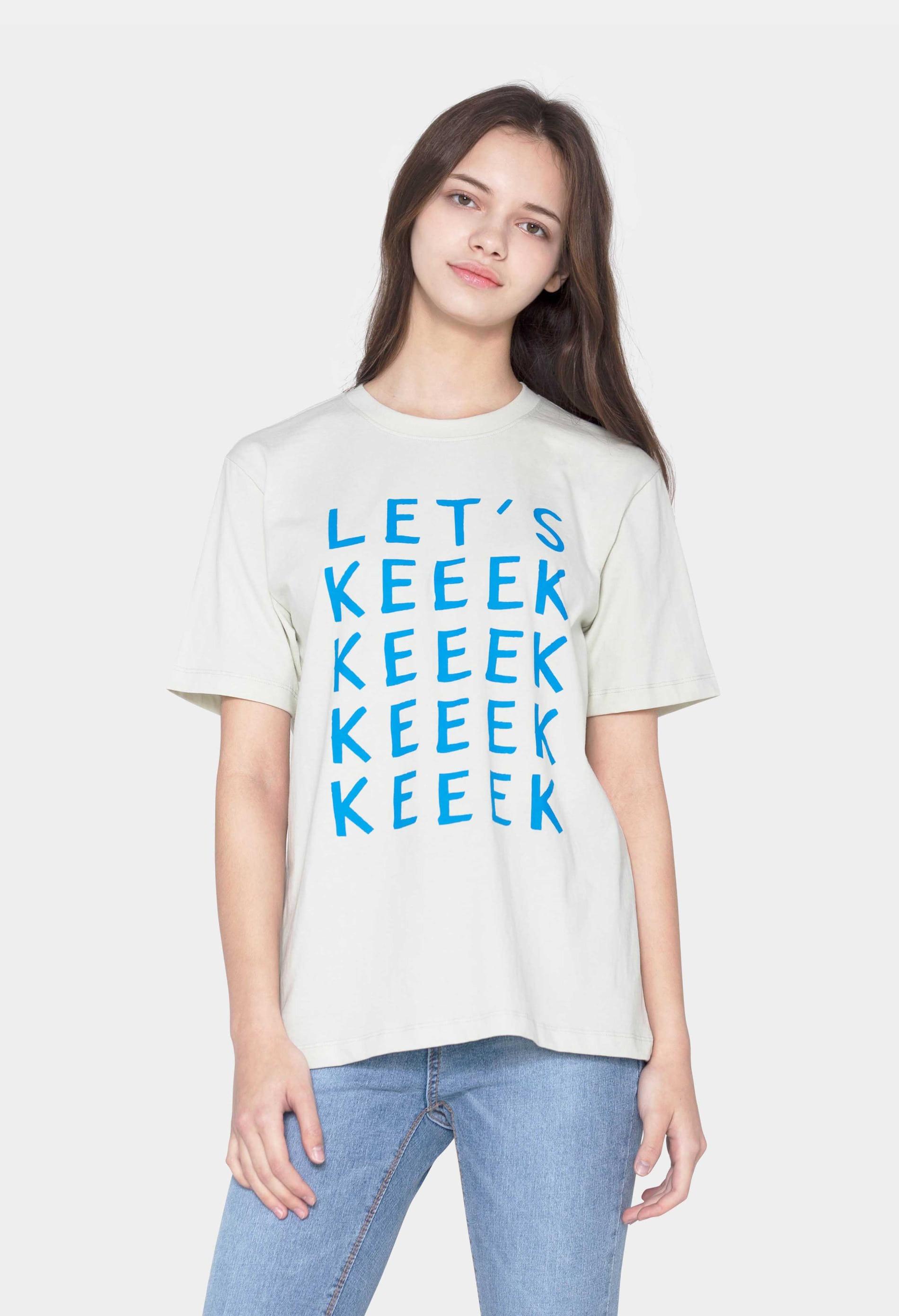 keek [Unisex] KEEEK T-shirts - Antique Ivory 스트릿패션 유니섹스브랜드 커플시밀러룩 남자쇼핑몰 여성의류쇼핑몰 후드티 힙색