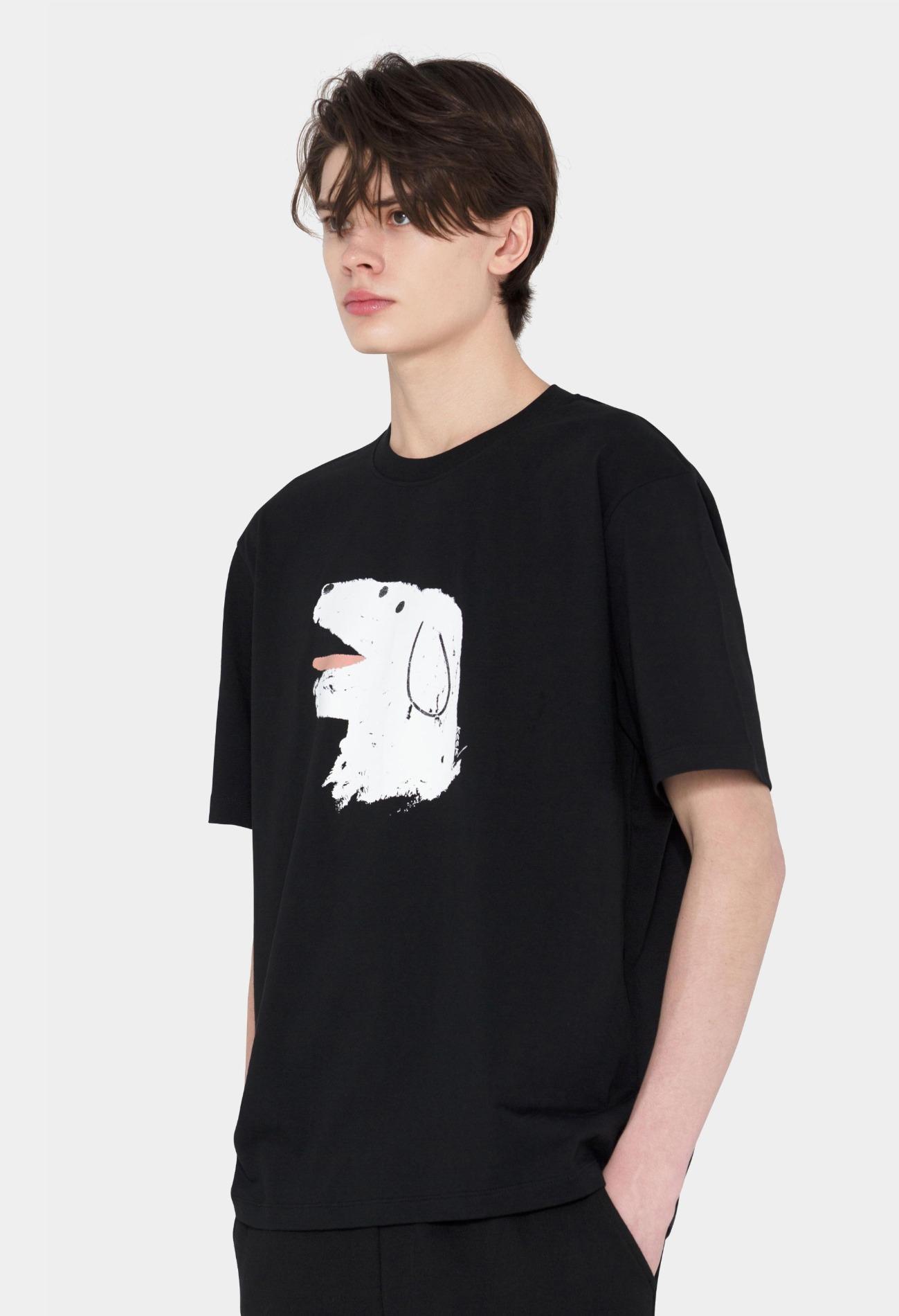 keek [Unisex] Doggy T-shirts - Black 스트릿패션 유니섹스브랜드 커플시밀러룩 남자쇼핑몰 여성의류쇼핑몰 후드티 힙색