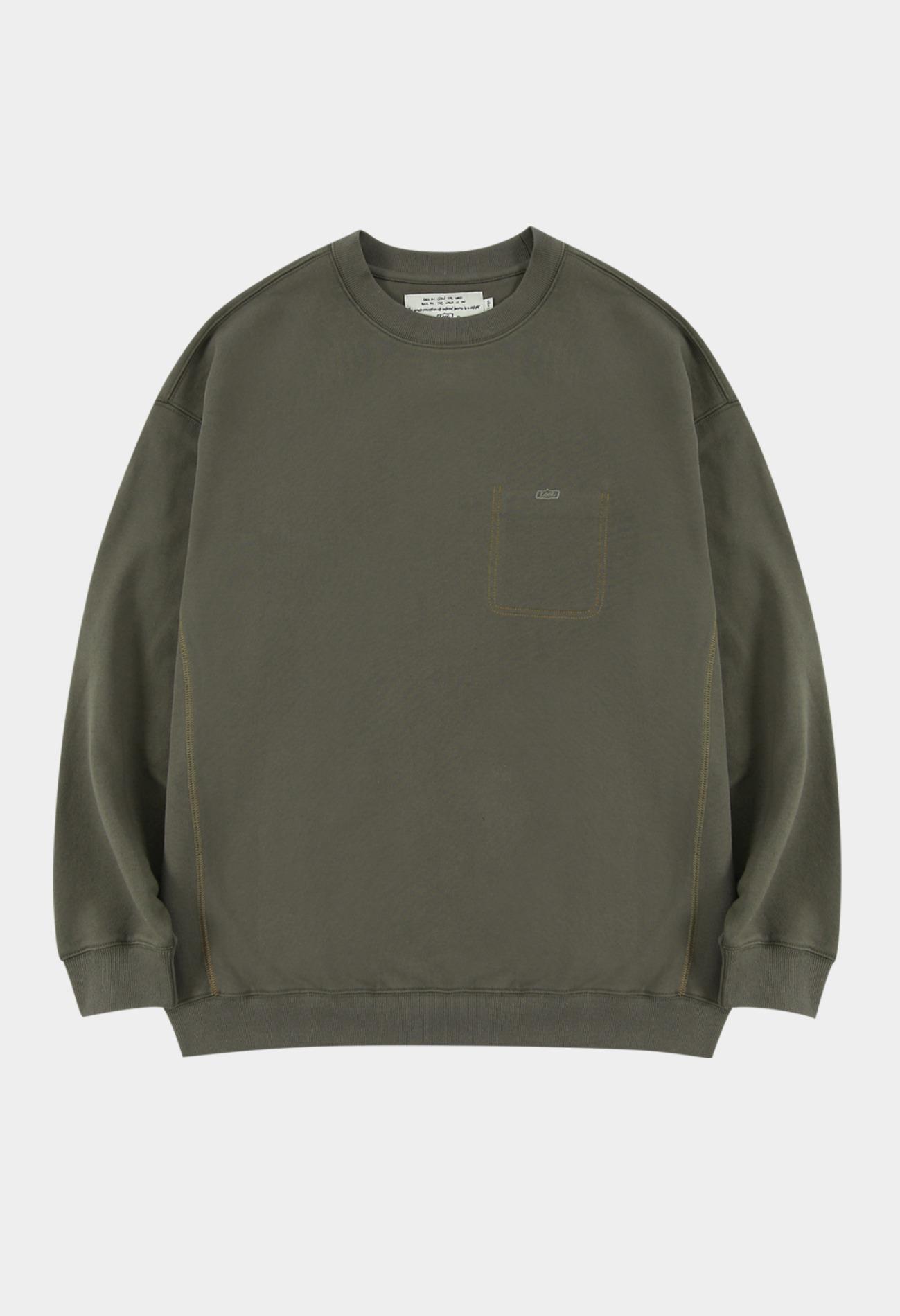 keek Stitich pocket sweatshirts - Vintage brown 스트릿패션 유니섹스브랜드 커플시밀러룩 남자쇼핑몰 여성의류쇼핑몰 후드티 힙색