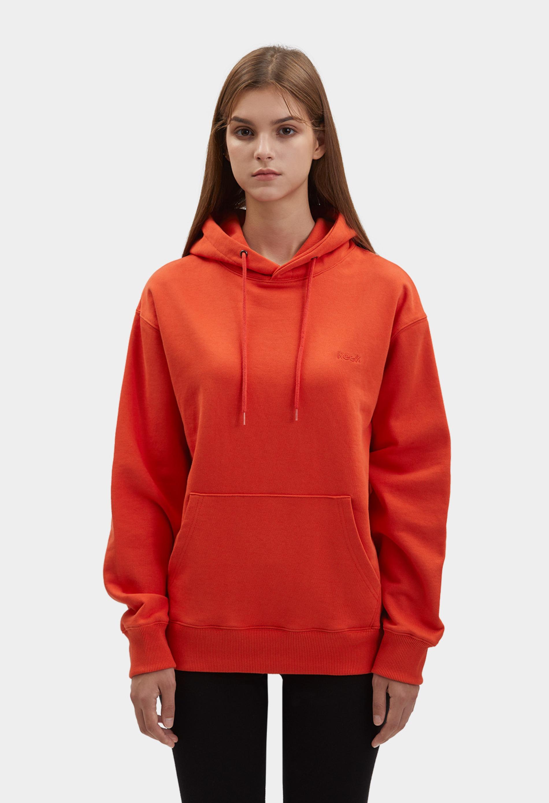 keek [Unisex] keek Hoodie - Red 스트릿패션 유니섹스브랜드 커플시밀러룩 남자쇼핑몰 여성의류쇼핑몰 후드티 힙색