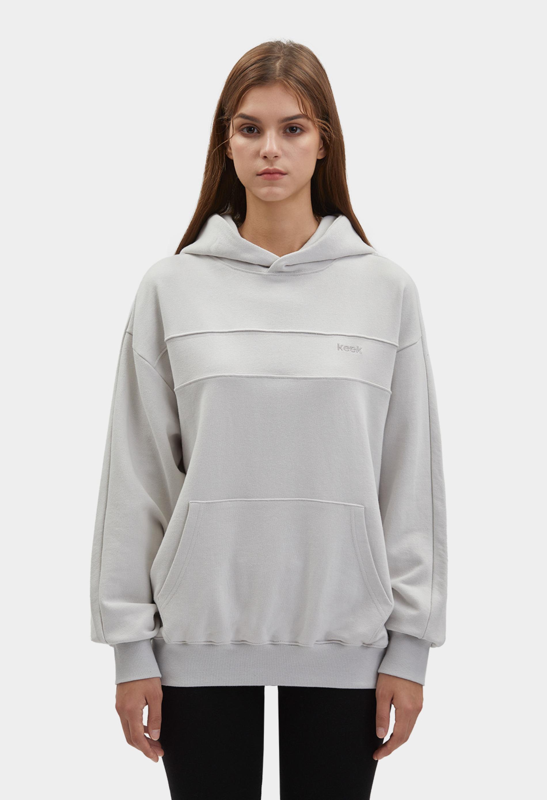 keek [Unisex] Block Hoodie - Light Gray 스트릿패션 유니섹스브랜드 커플시밀러룩 남자쇼핑몰 여성의류쇼핑몰 후드티 힙색