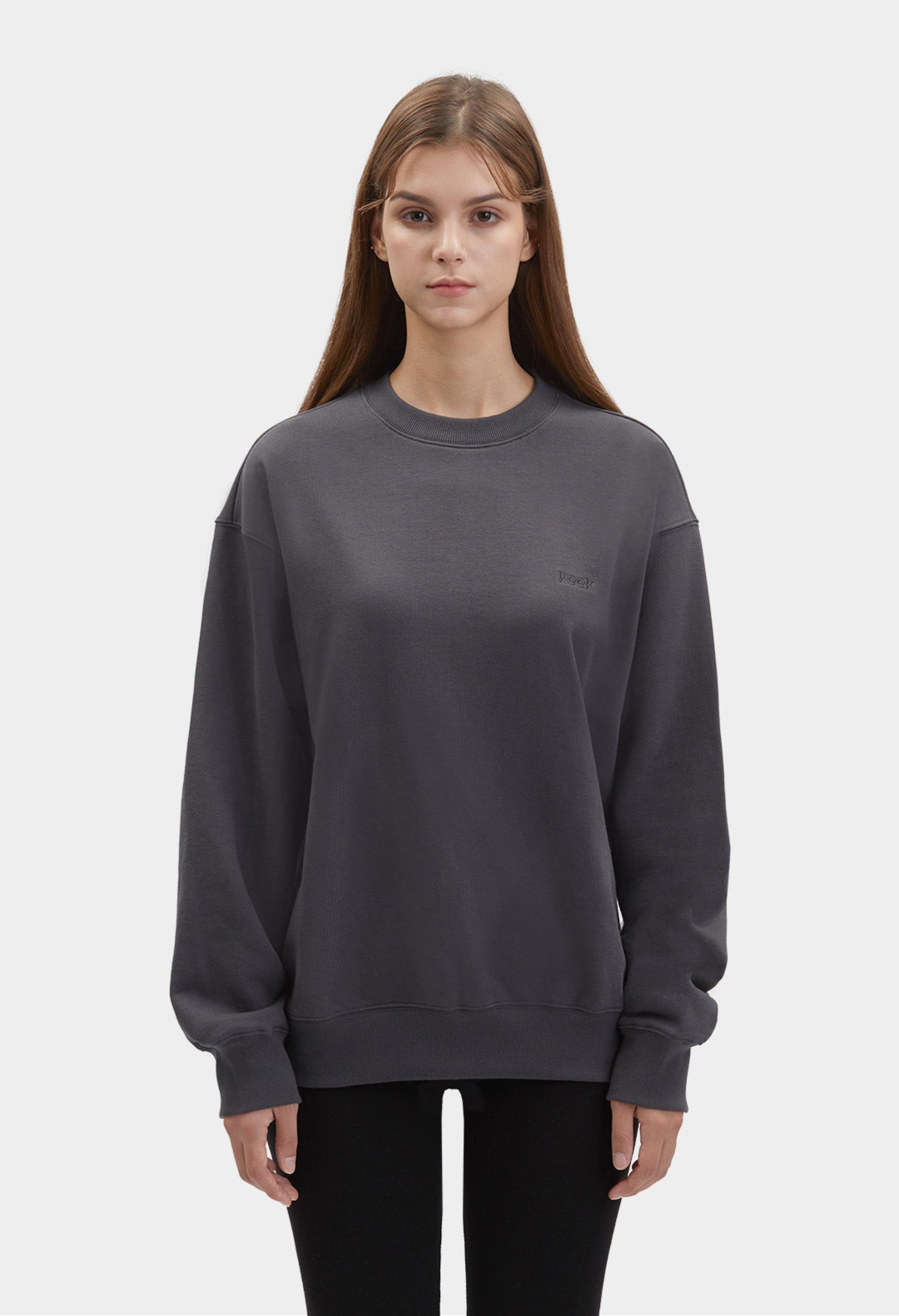 keek [Unisex] keek Sweatshirts - Charcoal 스트릿패션 유니섹스브랜드 커플시밀러룩 남자쇼핑몰 여성의류쇼핑몰 후드티 힙색