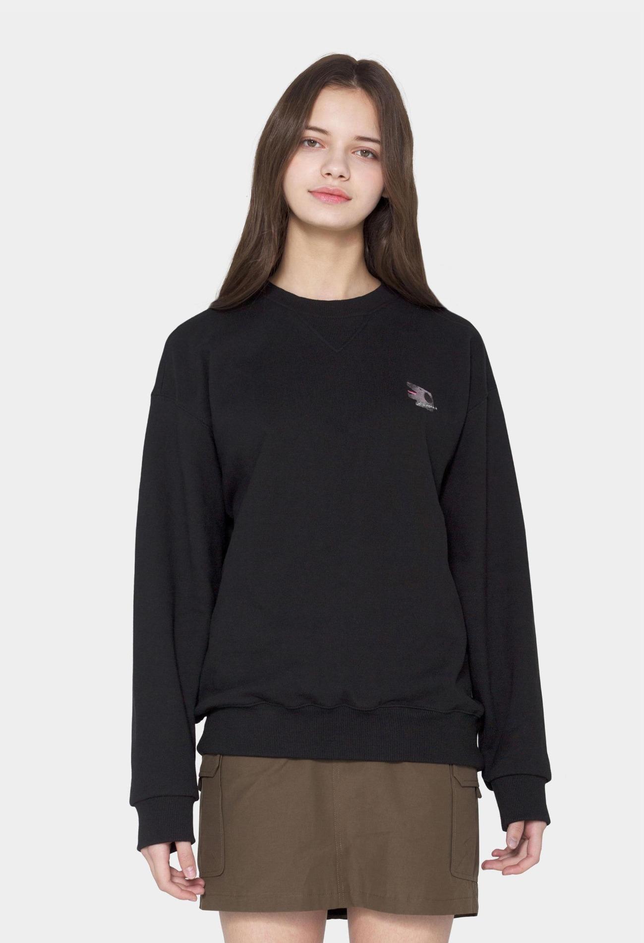 keek [Unisex] Doggy Sweatshirts - Black 스트릿패션 유니섹스브랜드 커플시밀러룩 남자쇼핑몰 여성의류쇼핑몰 후드티 힙색