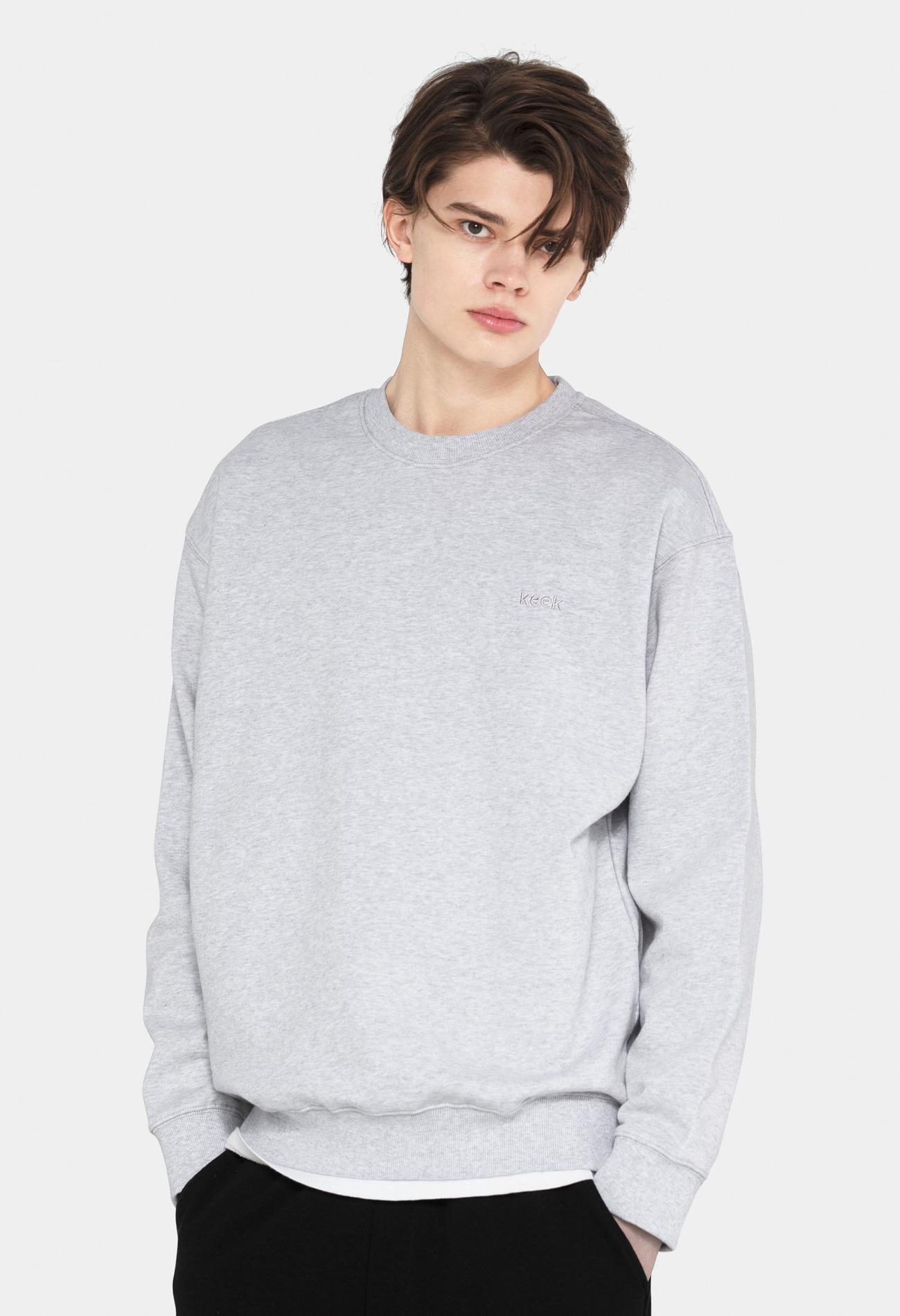 keek [Unisex] keek Sweatshirts - Melange Gray 스트릿패션 유니섹스브랜드 커플시밀러룩 남자쇼핑몰 여성의류쇼핑몰 후드티 힙색