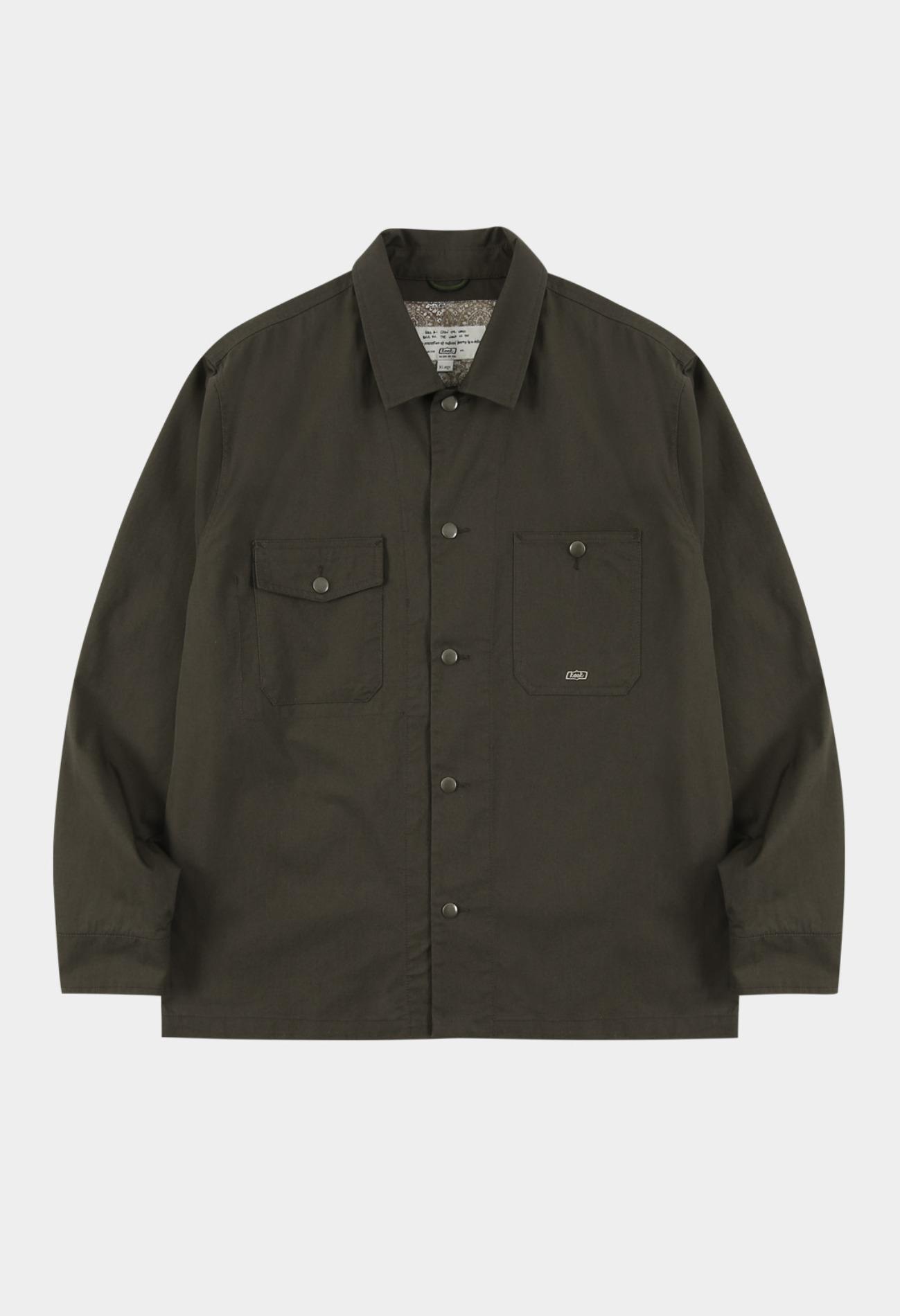 keek Snap Shirt Jacket - Khaki 스트릿패션 유니섹스브랜드 커플시밀러룩 남자쇼핑몰 여성의류쇼핑몰 후드티 힙색