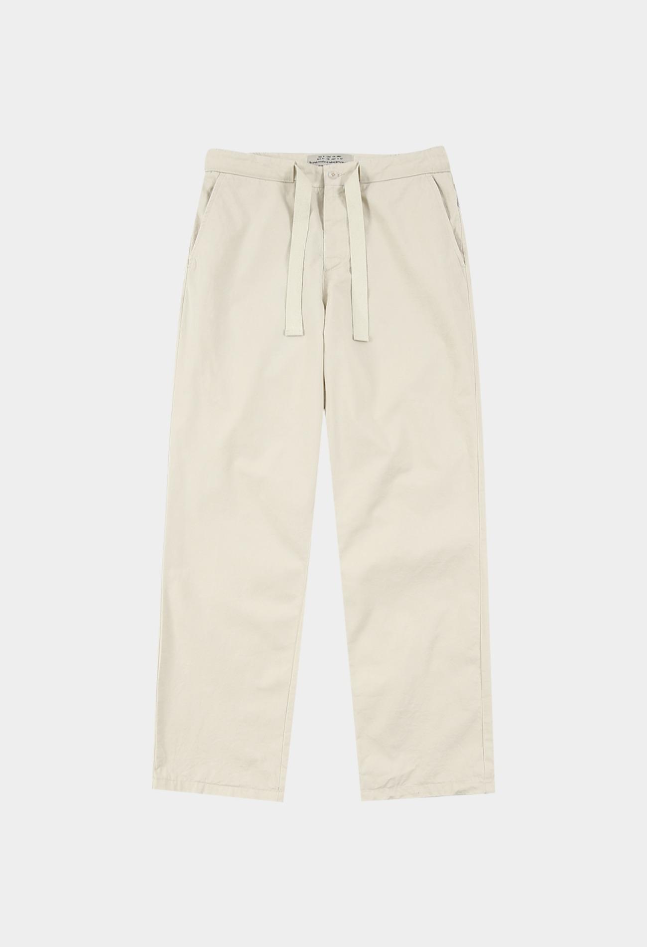 keek Banding Belted Pants - Ivory 스트릿패션 유니섹스브랜드 커플시밀러룩 남자쇼핑몰 여성의류쇼핑몰 후드티 힙색