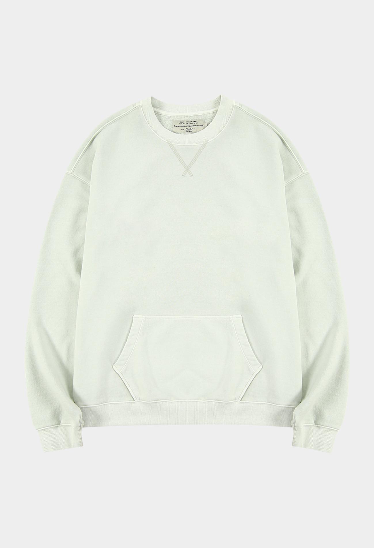 keek Washing pocket sweatshirts - Ivory 스트릿패션 유니섹스브랜드 커플시밀러룩 남자쇼핑몰 여성의류쇼핑몰 후드티 힙색
