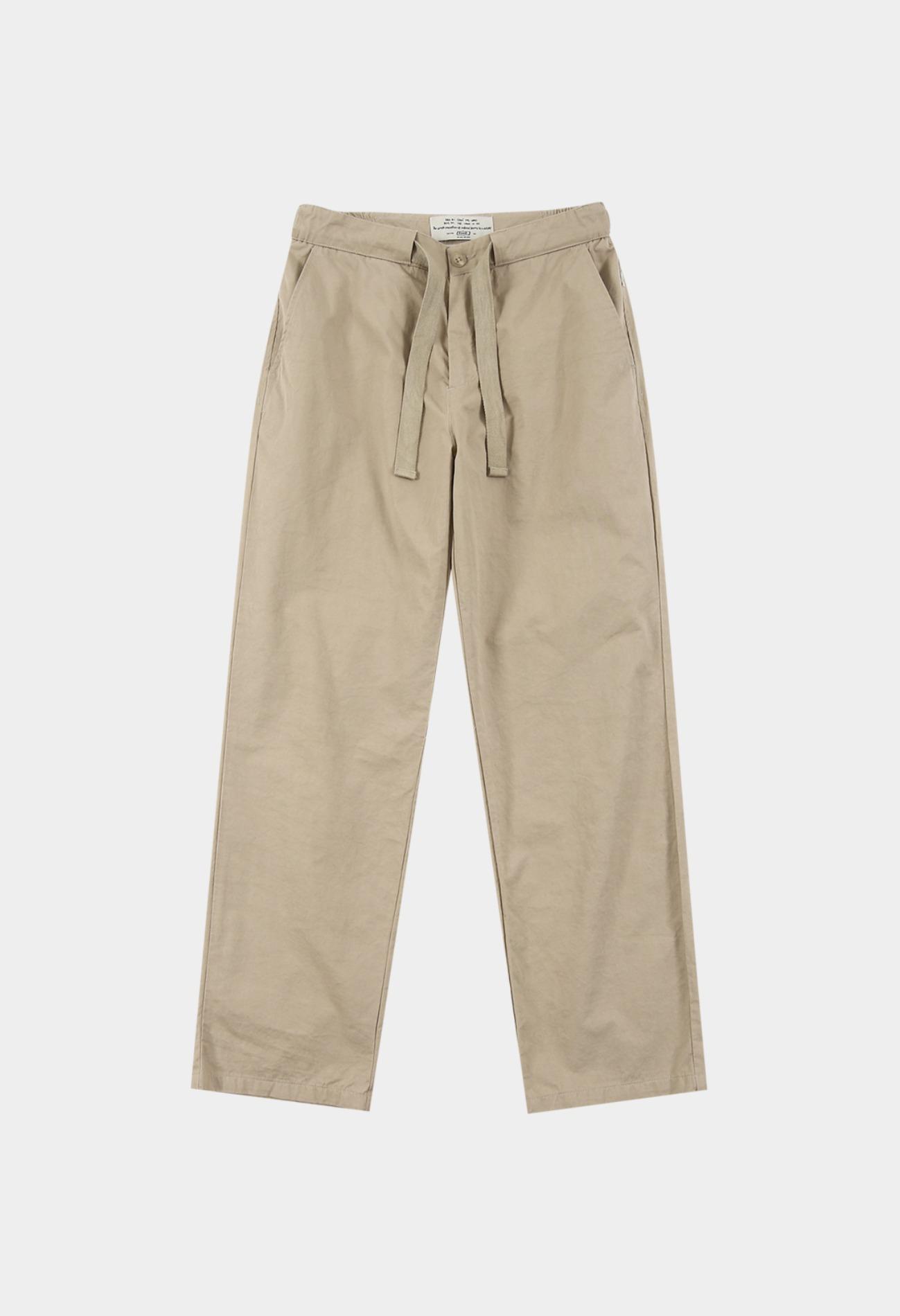 keek Banding Belted Pants - Beige 스트릿패션 유니섹스브랜드 커플시밀러룩 남자쇼핑몰 여성의류쇼핑몰 후드티 힙색