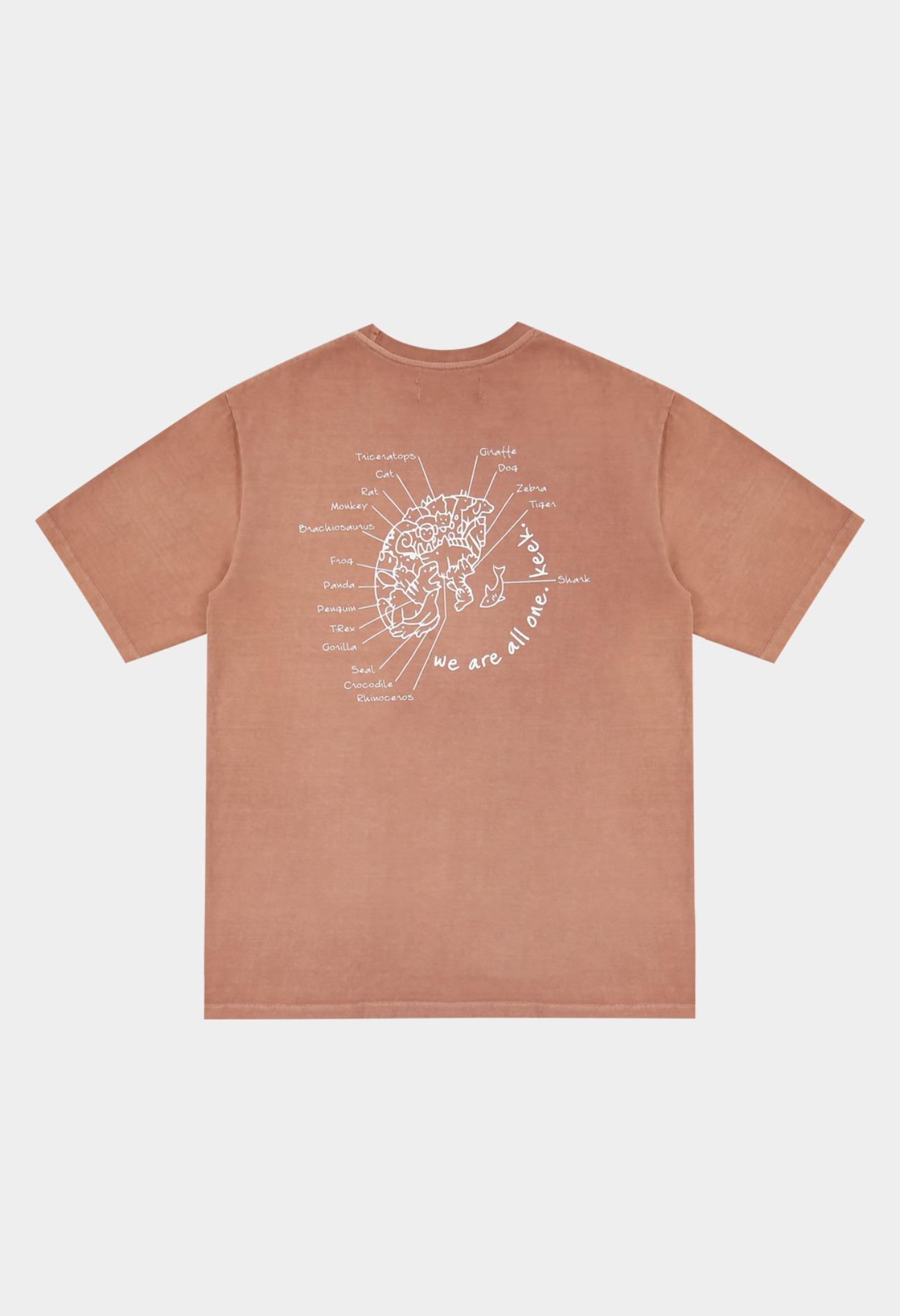 keek Washing Earth T-shirts - Vintage Pink 스트릿패션 유니섹스브랜드 커플시밀러룩 남자쇼핑몰 여성의류쇼핑몰 후드티 힙색