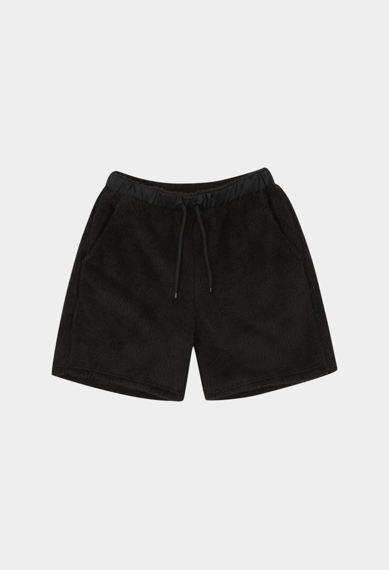 keek Tech Fleece Pillowdy Shorts by KEEK LAB - Black 스트릿패션 유니섹스브랜드 커플시밀러룩 남자쇼핑몰 여성의류쇼핑몰 후드티 힙색