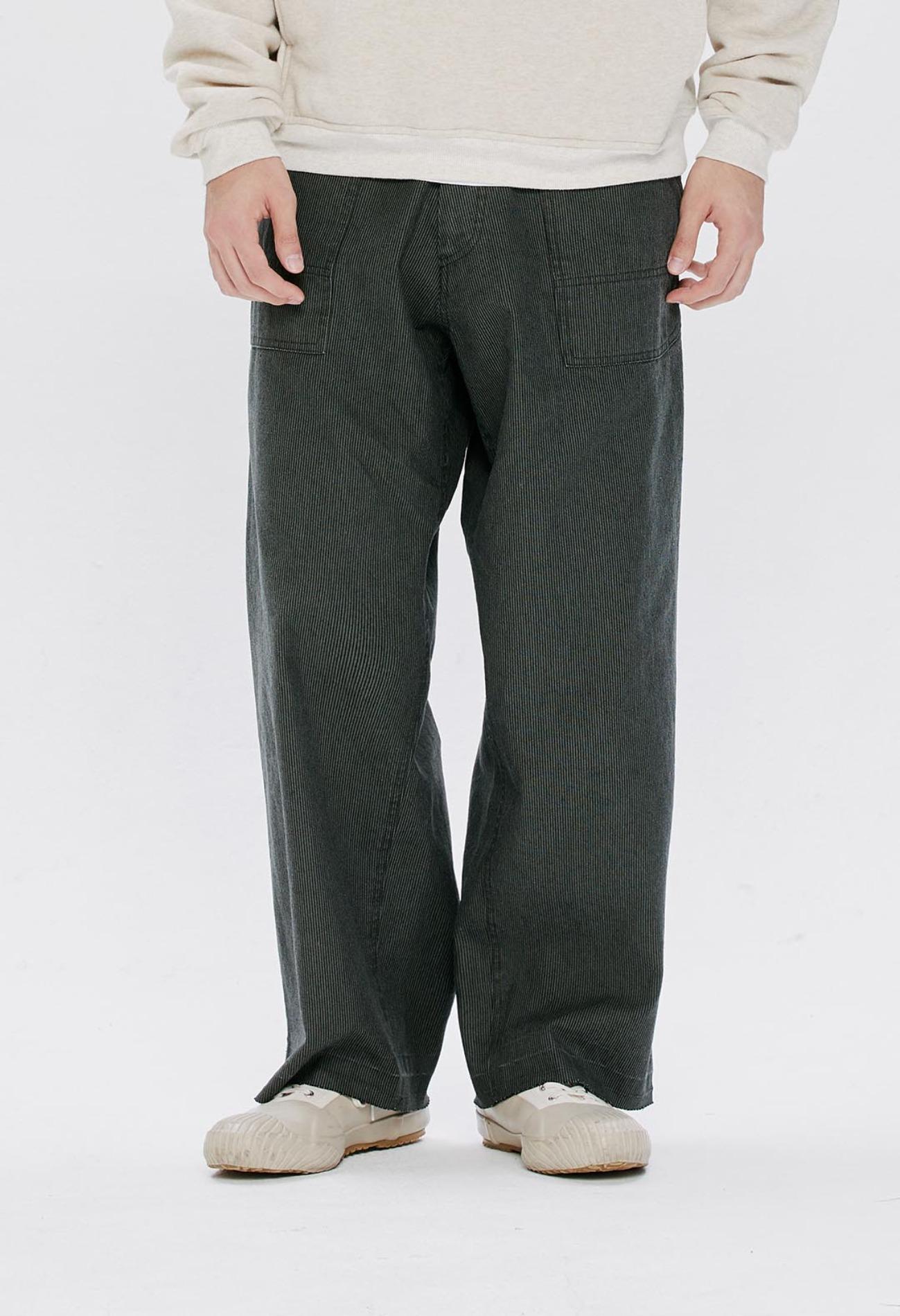 keek Wide Cargo Cotton Pants - khaki 스트릿패션 유니섹스브랜드 커플시밀러룩 남자쇼핑몰 여성의류쇼핑몰 후드티 힙색