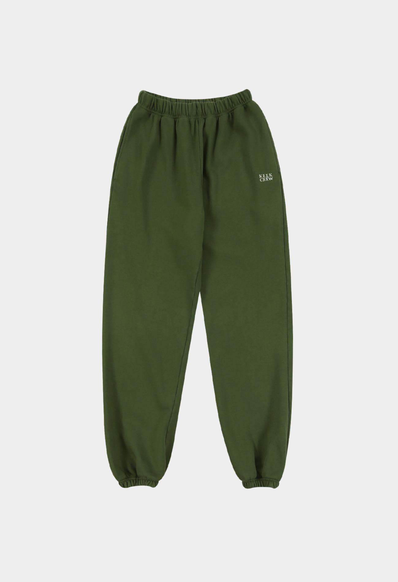 keek Pigment Sweatpants by KEEK CREW - Green 스트릿패션 유니섹스브랜드 커플시밀러룩 남자쇼핑몰 여성의류쇼핑몰 후드티 힙색