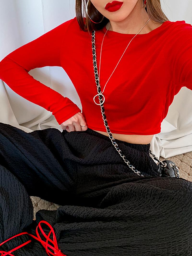 라운드네크리스-necklace (골드 당일배송)