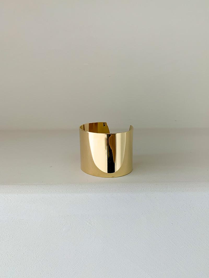 New Flat Gold Bangle-bracelet