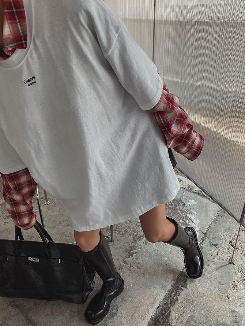 ボクシーサイドスリットTシャツ