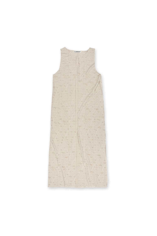 CUT OFF LAYERED DRESS KA [BEIGE]