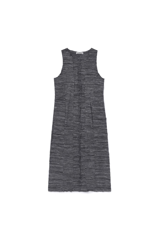 CUT OFF LAYERED DRESS KA [BLACK]