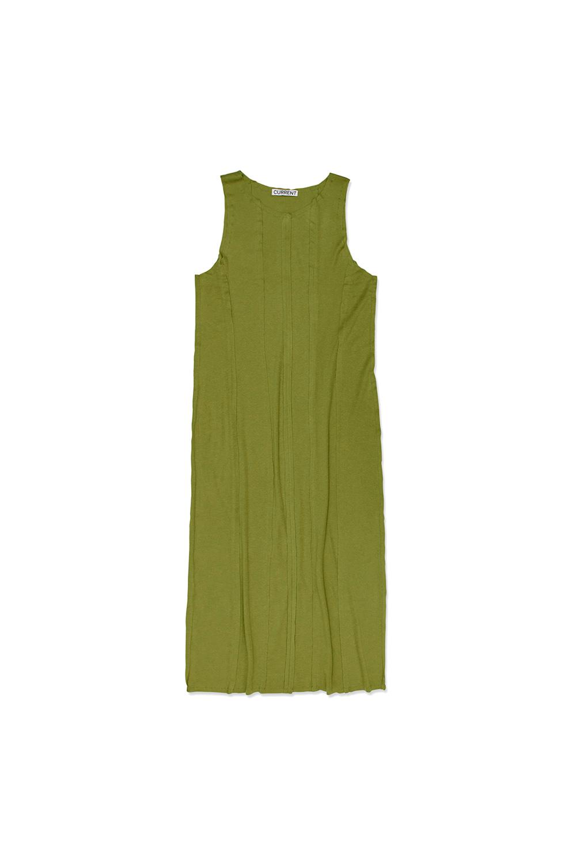 CUT OFF LAYERED DRESS KA [OLIVE]