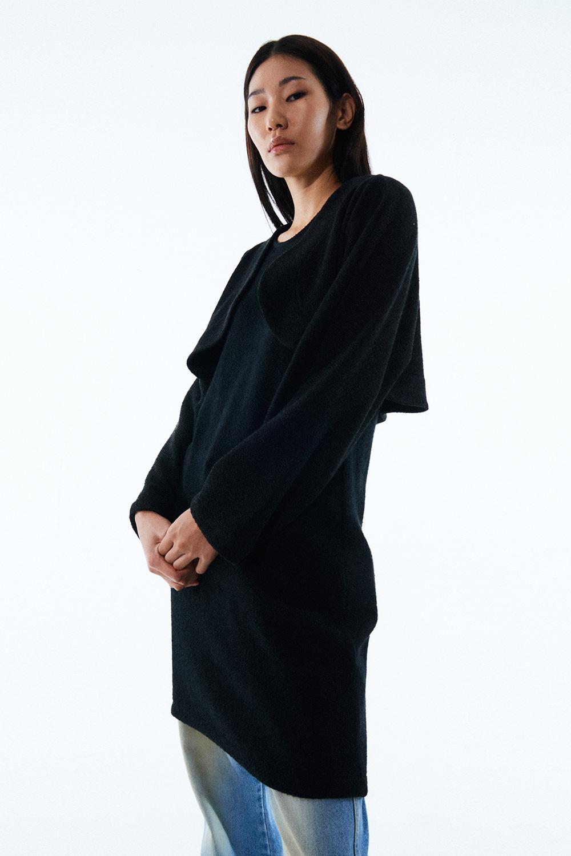 BOLERO KNITTED DRESS KA [BLACK]