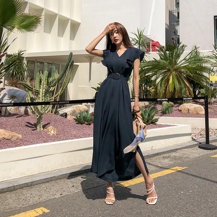 [핫딜]라일로점프수트_A2JS[B] 스타일리쉬 여성점프수트 고급스러운 핑크 네이비 브이넥 여성스러운 오피스룩 하객룩 하객패션 썸머 벨트 루즈핏 데이트룩 30대여성쇼핑몰 20대여자쇼핑몰 키작은여자쇼핑몰 여성의류쇼핑몰