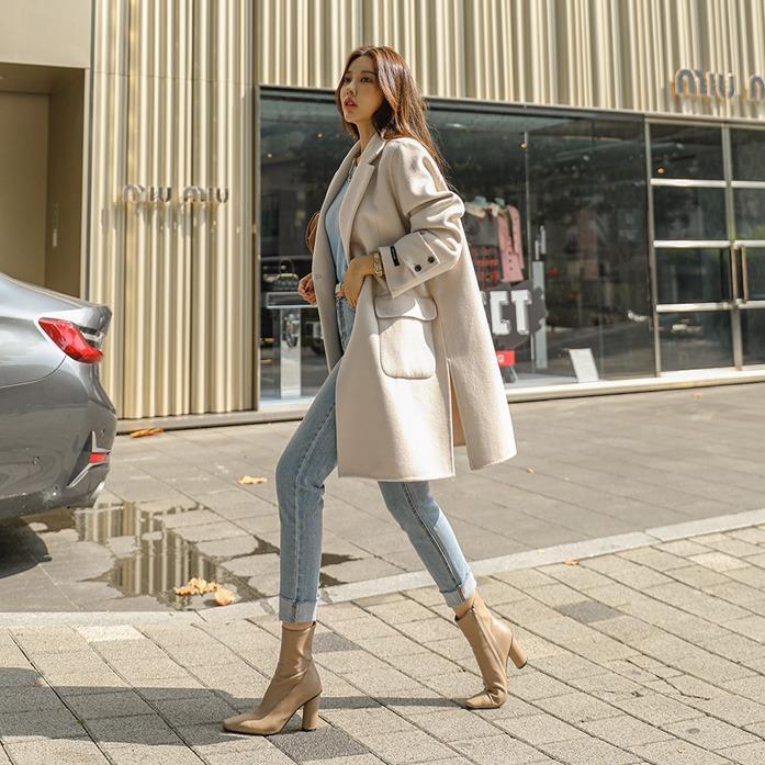 [블랙라벨]테르핸드하프코트(한정수량)_A4OU 오피스룩 하객룩 데일리룩 30대여성쇼핑몰 20대여자쇼핑몰 키작은여자쇼핑몰 여성의류쇼핑몰 핸드메이드 울코트 크림 블랙 샌드베이지