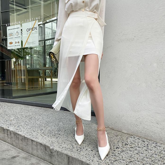 Dabagirl Layered High-Low Skirt