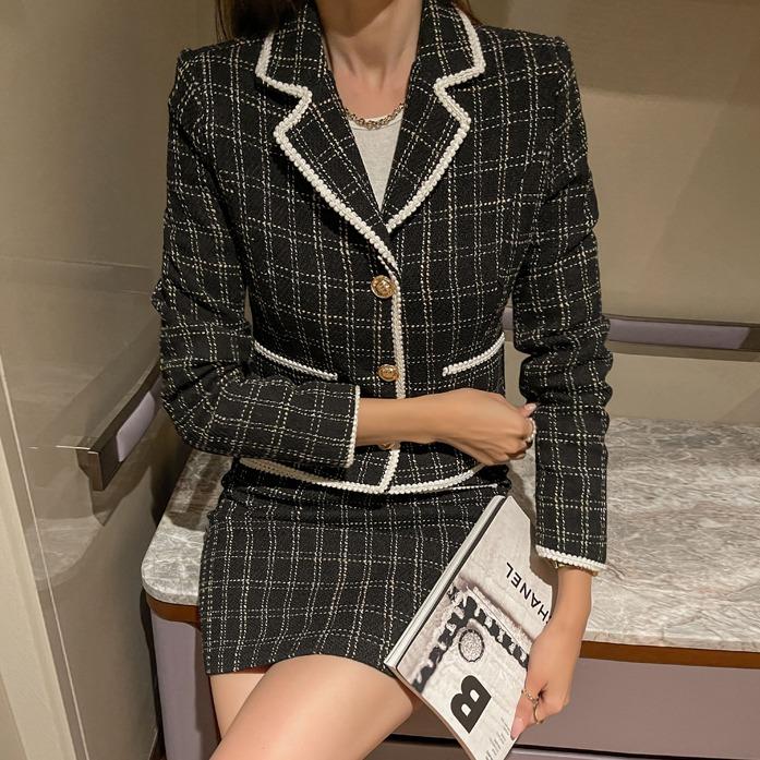 베이든트위드자켓_A3OU+베이든미니스커트_A3SK_SE 30대여성쇼핑몰 20대여자쇼핑몰 키작은여자쇼핑몰 여성의류쇼핑몰 데이트룩 여친룩 셋업 투피스 패키지 셋트 세트 베이지 블랙