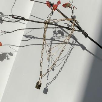 Dabagirl 3-Piece Gold-Tone Chain Necklace Set