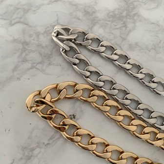 Dabagirl Chunky Curb Chain Necklace