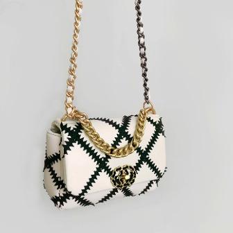 Dabagirl Diamond Pattern Flap Shoulder Bag