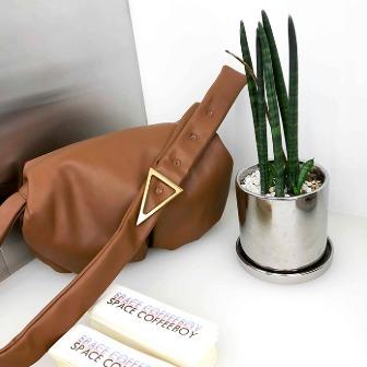 Dabagirl Triangle Buckle Gathered Shoulder Bag